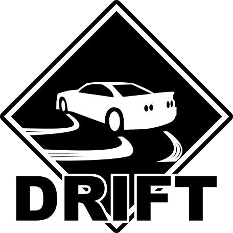 Drift Sticker Free Vector