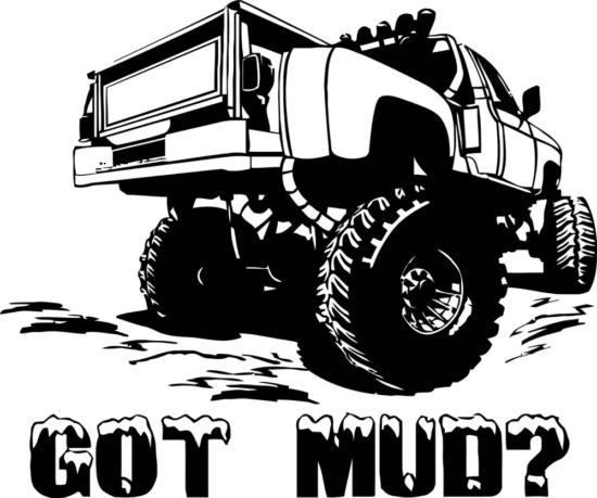 Got Mud Sticker Free Vector