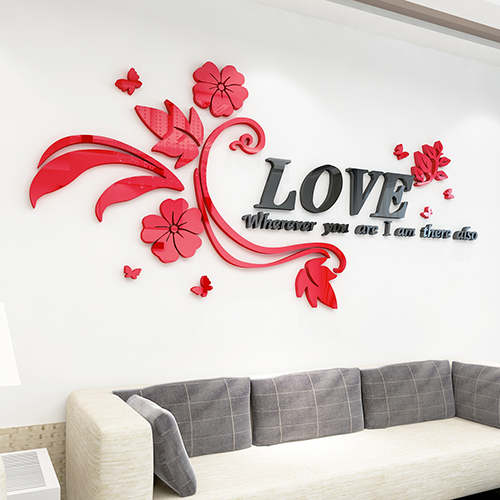 Love Wall Sticker Free Vector
