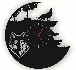 Vinyl Watches Wolf Cdr Free Vector