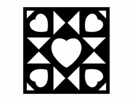 Barn Quilt Hearts dxf File