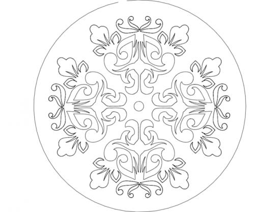 Mandala 8 dxf File