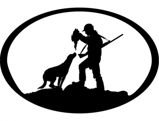 Duck Hunter n Dog Oval Svg dxf File