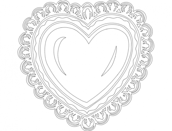 Festive Things Heart dxf File
