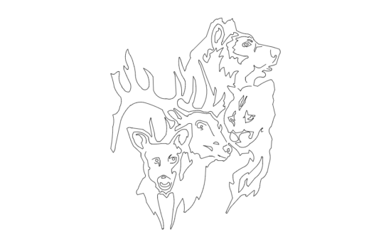 Wild Animals dxf File