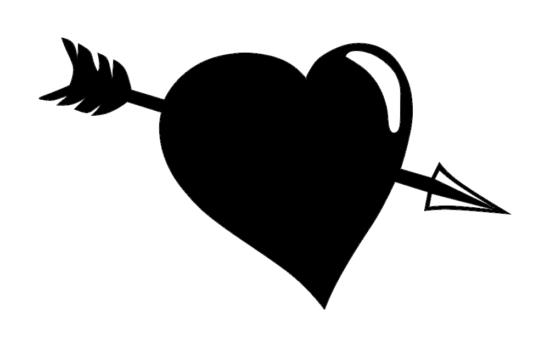 Arrow Heart dxf File