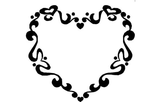 Heart Frame dxf File