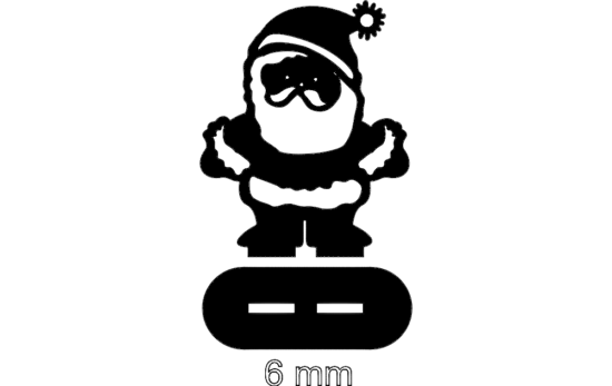 Santa Stand (6mm) dxf File