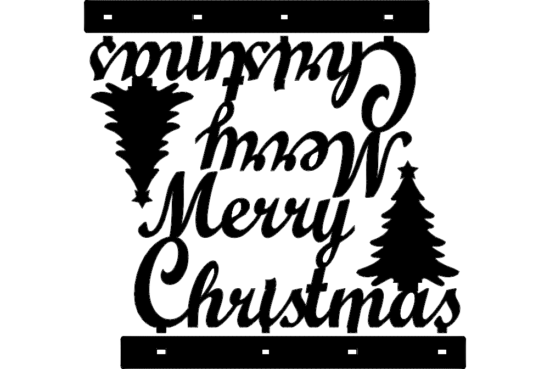 Stand Merry Christmas Decoration dxf File