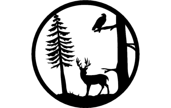 Deer Tree dxf File