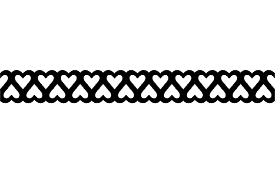 Double heart border short dxf File