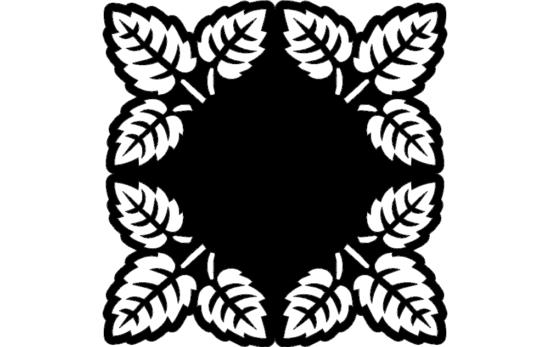 Tree Leaf Pattern dxf File