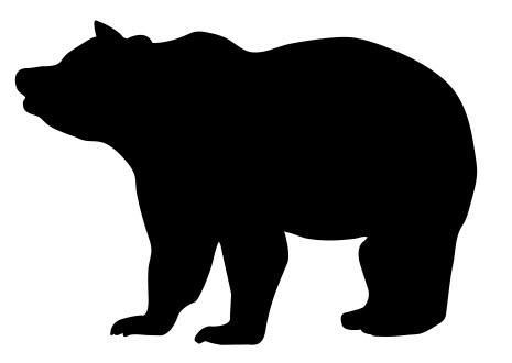 Bear Silhouette DXF File