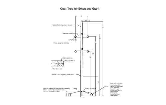 Coat Tree dxf file