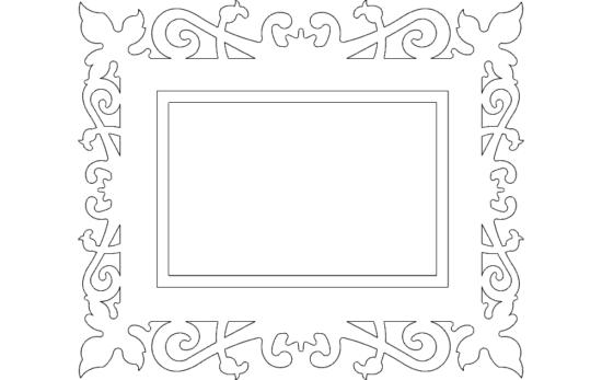 Quadro Trabalhado (Frame) dxf file