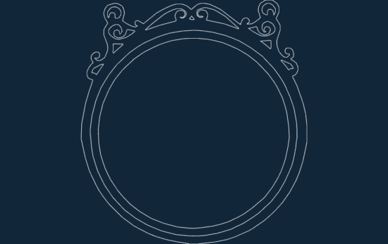 Round Frame dxf file