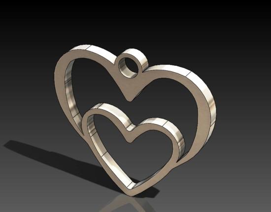 Heart in heart DXF file