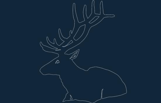 Animal Deer Sitting dxf file