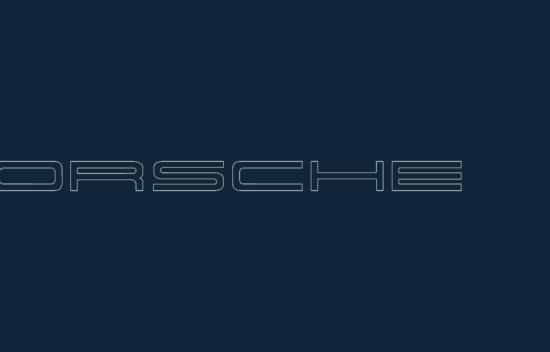 Porsche logo 2 acad dxf file