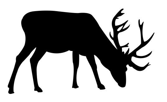 Deer grazing dxf file
