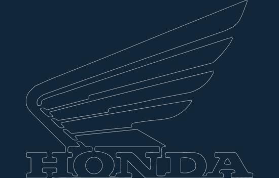 Honda motorcycle wing logo dxf file