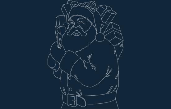 Santa Large dxf