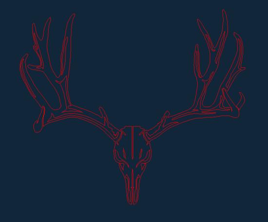 Deer-Skull dxf