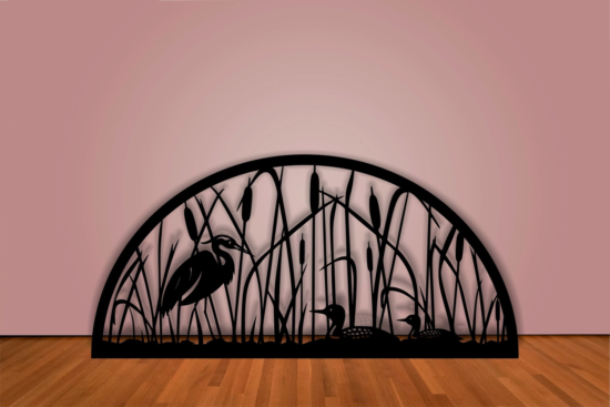 Decorative Design Duck In Reeds DXF File