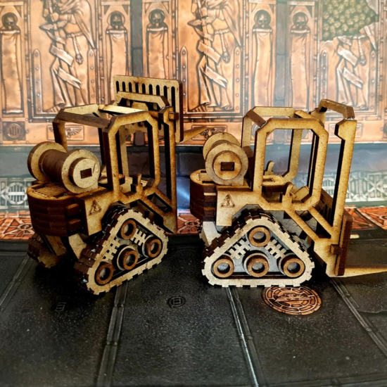 Laser Cut Wooden Toy Forklift Truck Children Gift DXF File