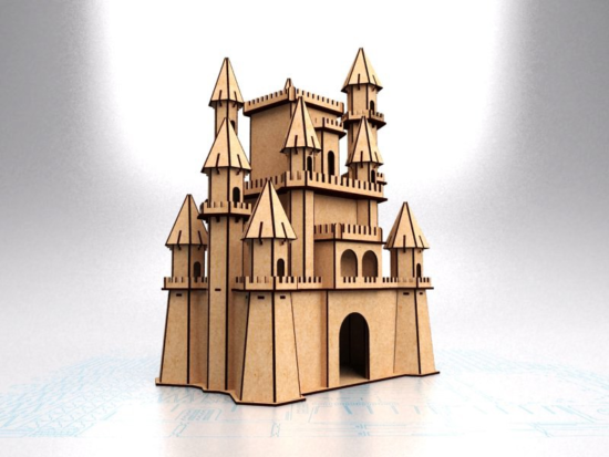 Laser Cut Disney Castle Free Vector