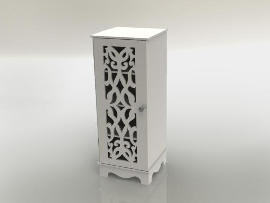 Laser Cut Wooden Cabinet Furniture Shelf Storage Rack 12mm DXF File