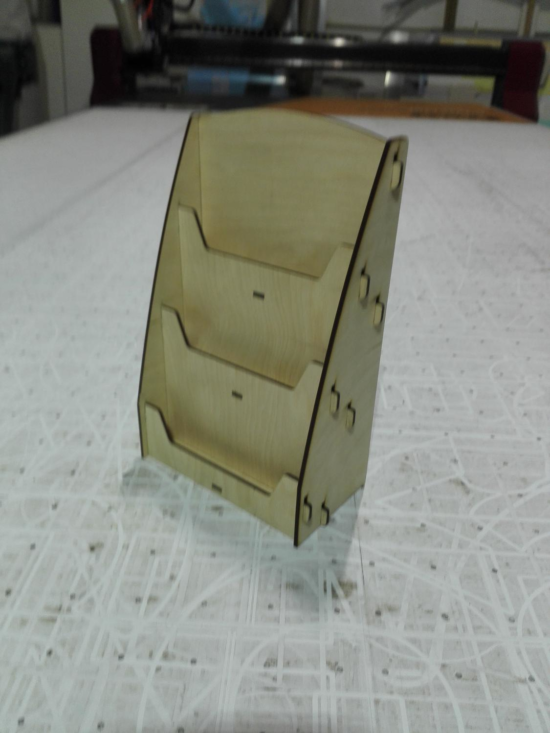 Laser Cut Wooden Magazine Display Rack Free Vector