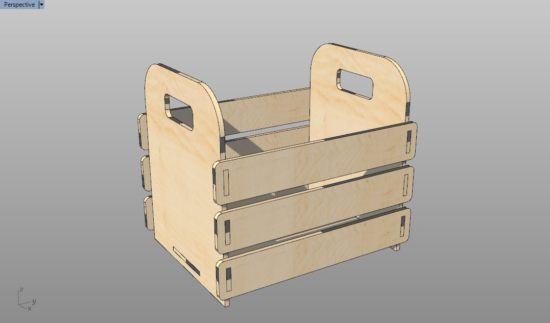 Laser Cut Wooden Greengrocer Basket With Handle Free Vector