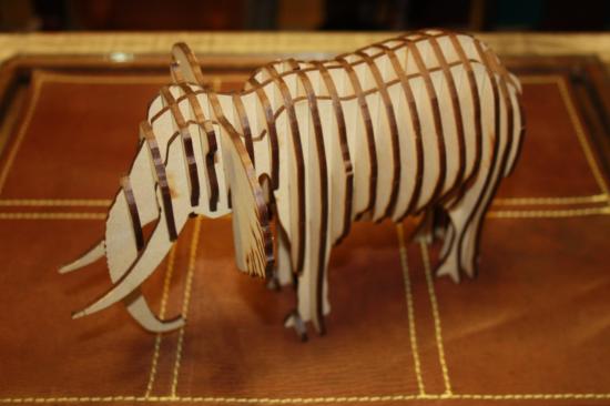Laser Cut Elephant 3mm DXF File