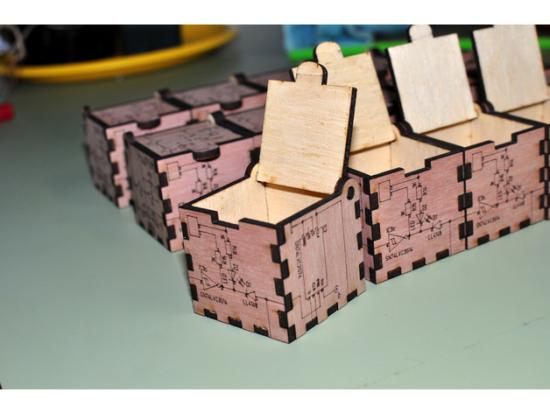 Laser Cut Wood Box SVG File