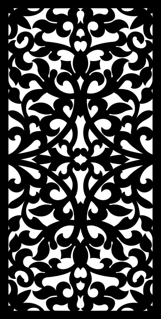 Seamless Floral Pattern SVG File