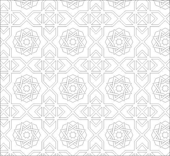 Decorative pattern AutoCAD Drawings DWG File
