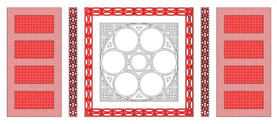 Seamless Geometrical Pattern DWG File