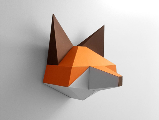 Papercraft Fox Pepakura Pattern Template PDF File