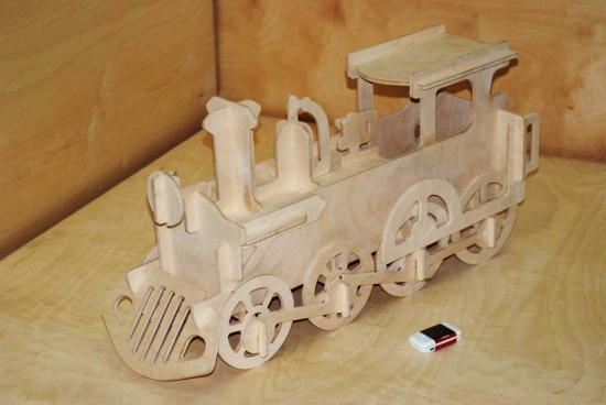 Lokomotive Laser Cut PDF File