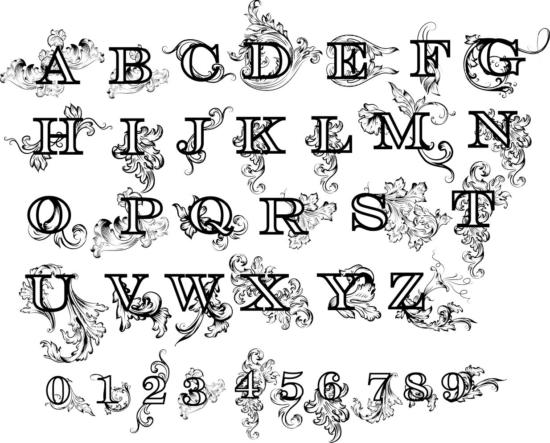 Decorative Laser Cut Letters PDF File