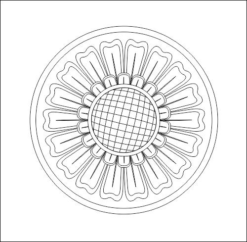 Circle Decoration DWG File