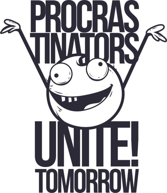 Procrastinators T Shirt Design Free Vector