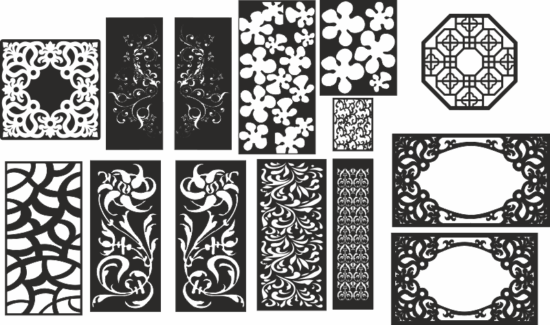 Jaali design in cdr For cnc router laser machine Free Vector