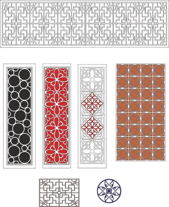 Lattice design collection Free Vector