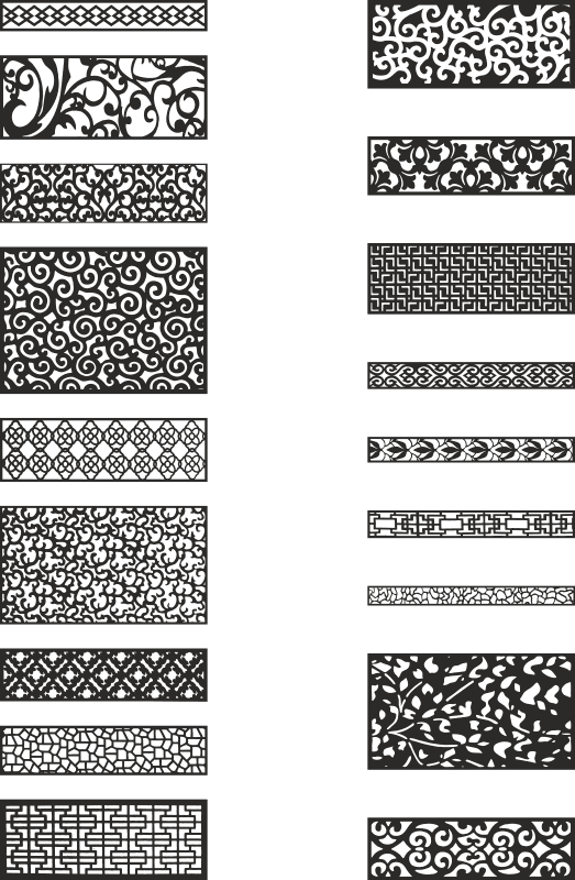 Fence Privacy Screen Collection Free Vector
