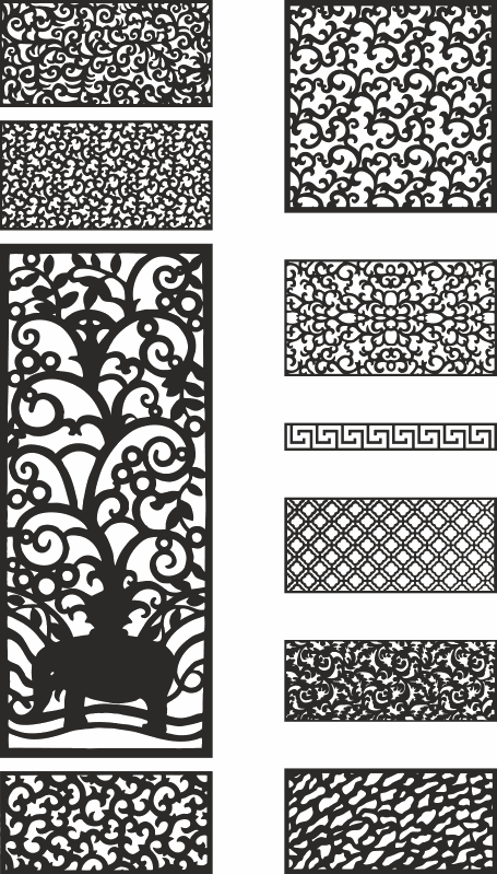 Laser Cut Template Collection Free Vector