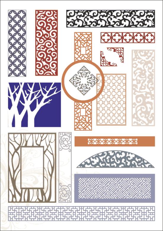 Decorative panels Free Vector