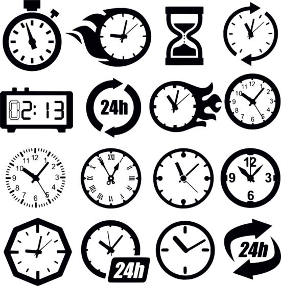 Clock Cdr Maket Dlya Lazernoy Rezki Free Vector