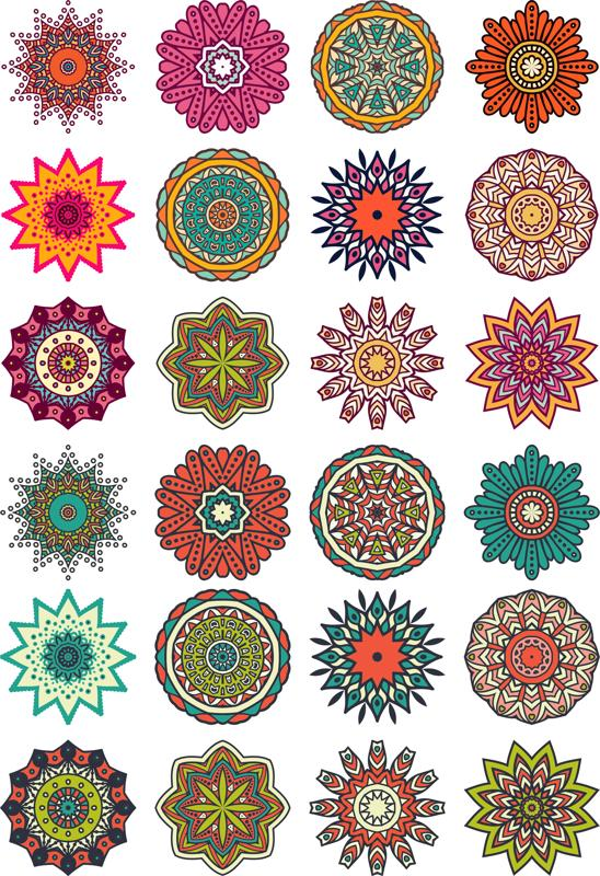 Mandala Flower Motif Free Vector